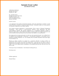 Sample Of Resume Cover Letter Cover Letter Examples With No Name