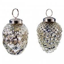 Zapfen Eichel Glas Silber S