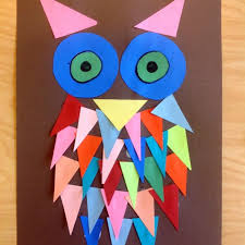 art and craft ideas for toddlers pinterest. kindergarten shape owl craft common core geometry - make various animals from shapes older kids can tally and graph the used art ideas for toddlers pinterest