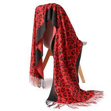 2019 Leopard Print <b>women scarf winter</b> cashmere scarves neck ...
