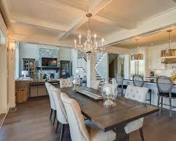 Mid Sized Elegant Dark Wood Floor Great Room Photo In Vancouver With Beige  Walls
