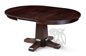 custom built amish crafted solid oak pasadena 48 round extension table shown in graphite finish