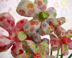 Flower Paper Mache Paper Mache Flowers Made To Order Size Large Paper Mache Paper