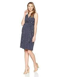 Everly Grey Womens Tobin Maternity Nursing Faux Wrap Sleeveless Tank Dress