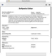 Resume Builder Interesting Resume Builder For Mac Download Sample Format 60 Idiomax