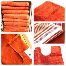 bathroom rust colored bath rugs popular signature c rug coastal and regarding in 3 from info