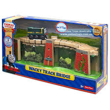 thomas the train wooden railway toy add excitement of bridge play to any your sets with thomas the train wooden railway