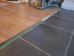 Kitchen Floor Covering Flooring How Can I Transition Between These Floors Home