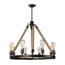 farmhouse kitchen lighting. LNC Vintage Chandeliers 8-Light Kitchen Island Chandelier Lighting Rustic Pendant Farmhouse S