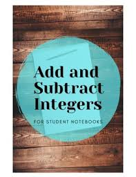 Integer Rules by Lauren Ridgeway   Teachers Pay Teachers