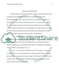 Introduction To Entrepreneurship Introduction To Entrepreneurship Term Paper Example Topics