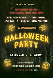 Halloween Dance Flyer Templates Free Halloween Party Flyer Template Halloween Party Flyer