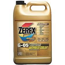 Zerex Antifreeze Application Chart 910935 4 Antifreeze Coolant 1 Gal Plastic Bottle 34