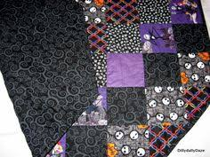 Handmade Nightmare Before Christmas quilt custom order for ... & Nightmare Before Christmas tree skirt quilted Adamdwight.com