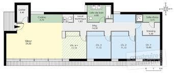 plan rdc maison maison de plain pied contemporaine