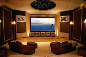 home theater wall sconces lighting movie room media decorating idea  applying theatre