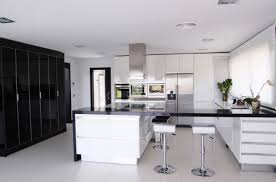 ... Architecture House Modern White Kitchen Black Decor And Home Pictures  Ideasblack 96 Striking Photos Design ...
