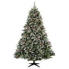 Flocked Christmas Tree Flocked Hawthorne Prelit Tree Christmas Lights Etc
