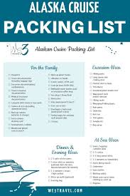 7 Day Cruise Packing List The Ultimate Alaska Cruise Packing List Printable