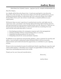 Security Supervisor Cover Letter Leading Professional Security Supervisor Cover Letter