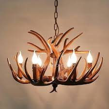 how to make an antler chandelier vintage 6 light brown resin fixture faux antler chandelier faux