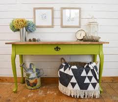 sofa table decor. Green Console Table Makeover Sofa Decor