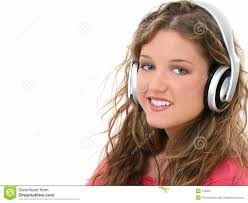 Beautiful Teen Girl with Headphones - beautiful-teen-girl-headphones-218421