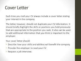 What Should Be Included In A Cover Letter What A Cover Letter Should
