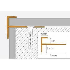 Die bequemsten maße für gartentreppen liegen bei stufenauftritten von 34 bis 40 cm tiefe und stufenhöhen von 12 bis 15 cm. Schluter Vinpro Step Kantenschutzprofil Treppe Titan Geburstet Hohe 3 Mm Franke Raumwert