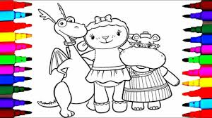Doc Mcstuffins Coloring Pages Remarkable With And Lambie Free