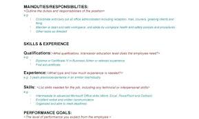 Microsoft Job Description Job Description Template Word Free Templates For Powerpoint