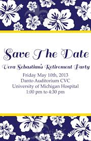 Save The Date Invitations For A Retirement Party At The