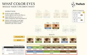 Eye Probability Chart Baby Eye Color Calculator Eye Color Predictor