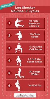 calisthenics workout plans wednesday leg infographic