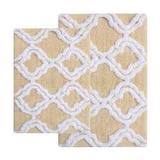 chesapeake merchandising double quatrefoil 2 pc bath rug set com