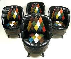whiskey barrel swivel chairs set of 4 furniture vintage whiskey barrel chairs furniture vintage