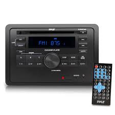 rv wall mount audio receiver av stereo headunit with wireless bluetooth streaming cd dvd player hdmi arc aux usb reader