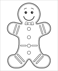 Cute Gingerbread Man Coloring Pages For Kids Coloringstar