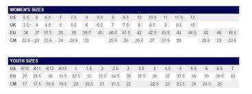 Chasse Shoe Size Chart 37 Rational Kaepa Shoe Size Chart