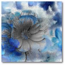blue flower canvas wall art on canvas wall art blue flowers with 16 in x 16 in blue flower canvas wall art web sb177 the home depot