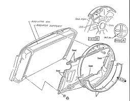 Corvette radiator fan shroud seal kit big block with plastic