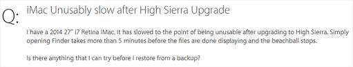 Mac Running Slow After High Sierra Update Quick Ways To