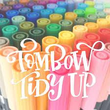 Tombow Dual Brush Pen Blank Color Chart Tombow Tidy Up Printable Tombow Dual Brush Pen Organizer