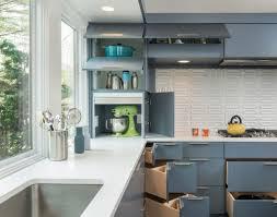 Mid Century Modern Kitchen Interior Midcentury Kitchen With Grey Built In Sink In Corner