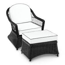 soro black wicker chair ottoman