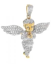 10k gold two tone 1 88ct diamond angel