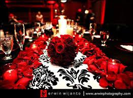 damask wedding red wedding
