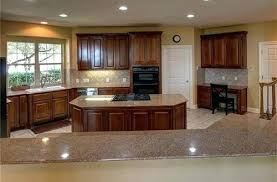 backsplash for brown cabinets tan counters white tile with dark