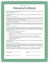 5 Warranty Certificate Templates Free Sample Templates
