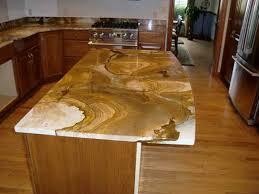 Beautiful stone countertop for unique kitchen island design